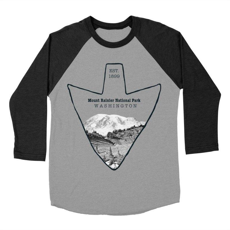 Mount Rainier National Park Arrowhead Women's Baseball Triblend T-Shirt by Of The Wild by Kimberly J Tilley