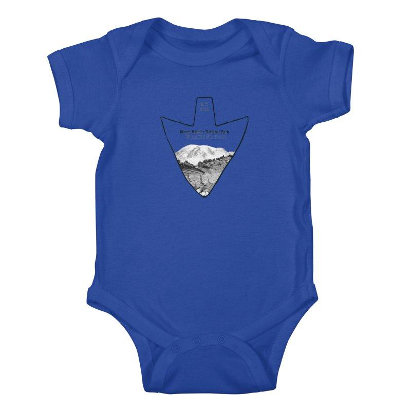 Mount Rainier National Park Arrowhead Kids Baby Bodysuit by Of The Wild by Kimberly J Tilley