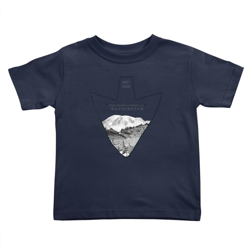 Mount Rainier National Park Arrowhead Kids Toddler T-Shirt by Of The Wild by Kimberly J Tilley
