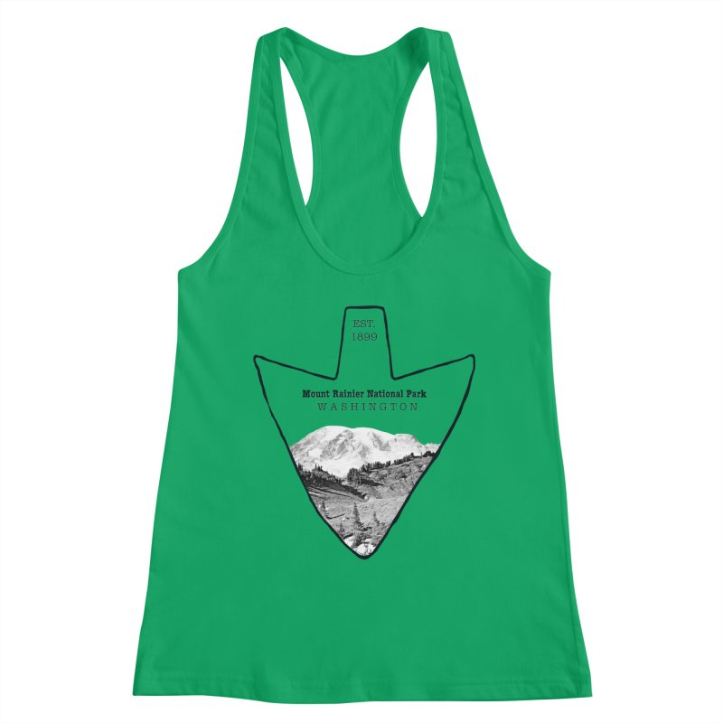 Mount Rainier National Park Arrowhead Women's Tank by Of The Wild by Kimberly J Tilley