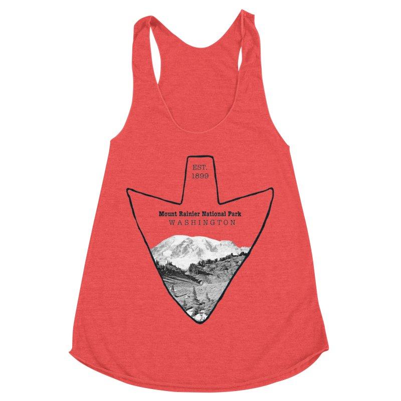 Mount Rainier National Park Arrowhead Women's Tank by Of The Wild by Kimberly J Tilley