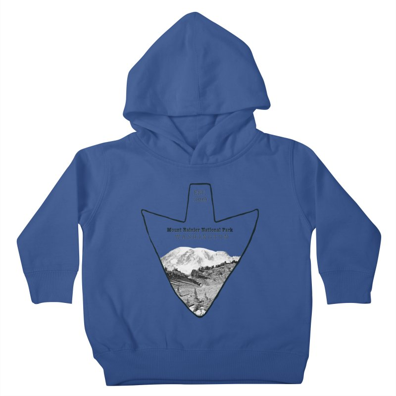 Mount Rainier National Park Arrowhead Kids Toddler Pullover Hoody by Of The Wild by Kimberly J Tilley