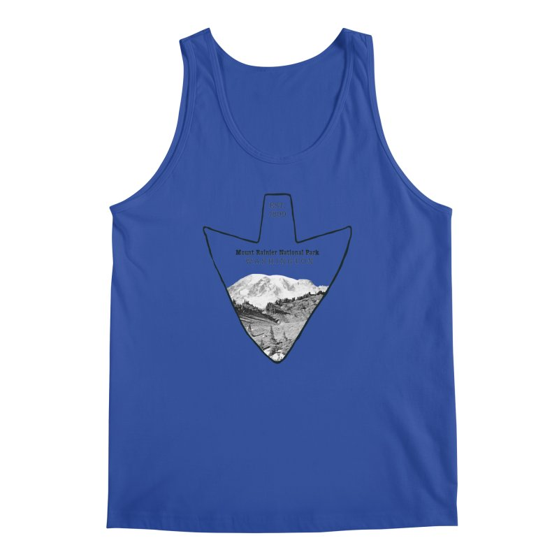 Mount Rainier National Park Arrowhead Men's Regular Tank by Of The Wild by Kimberly J Tilley