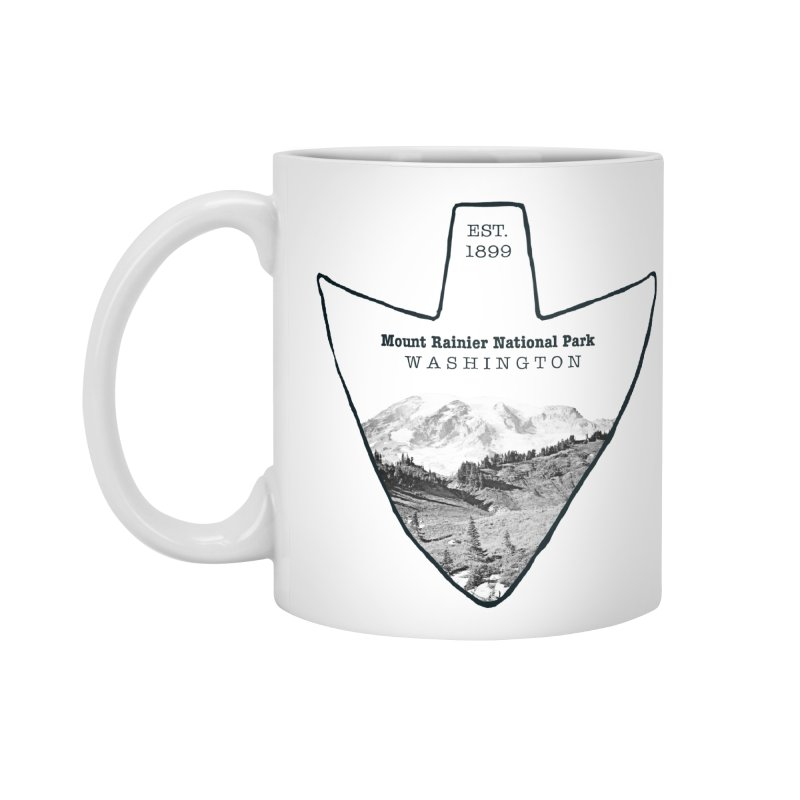 Mount Rainier National Park Arrowhead Accessories Standard Mug by Of The Wild by Kimberly J Tilley