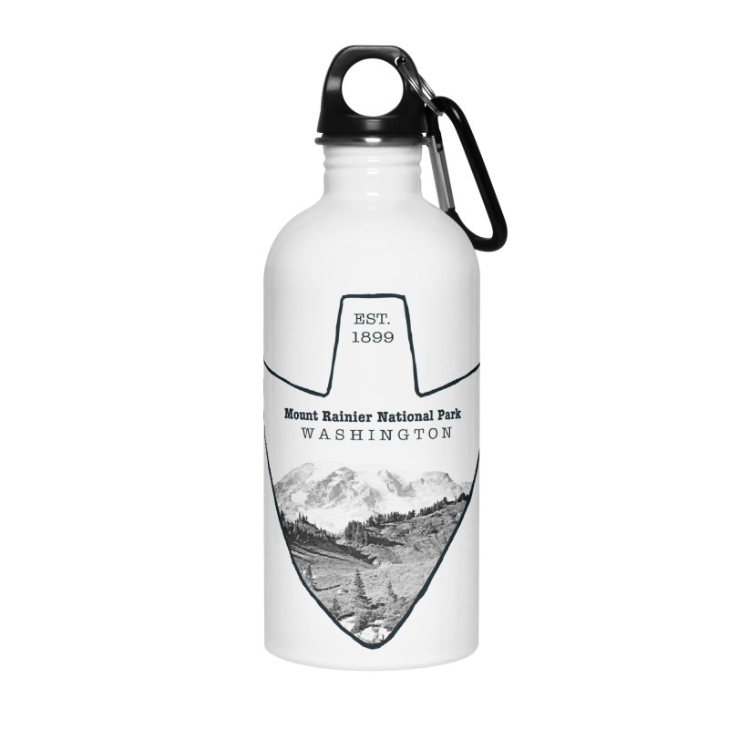 Mount Rainier National Park Arrowhead Accessories Water Bottle by Of The Wild by Kimberly J Tilley