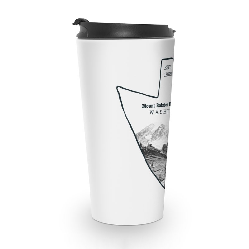 Mount Rainier National Park Arrowhead Accessories Travel Mug by Of The Wild by Kimberly J Tilley