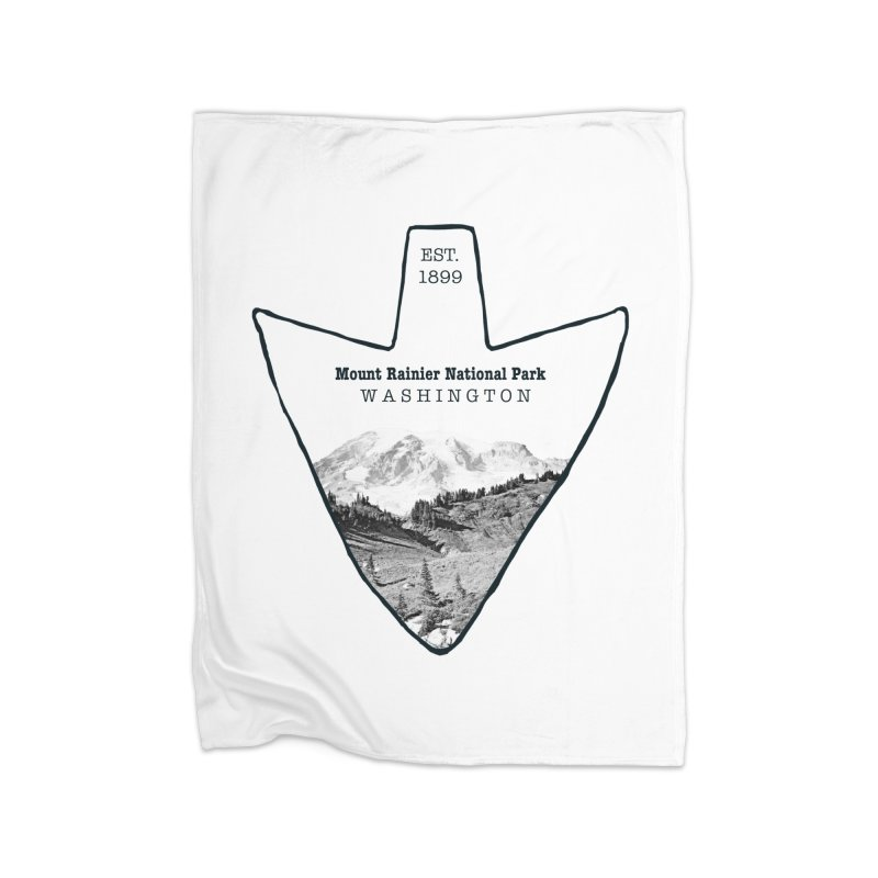 Mount Rainier National Park Arrowhead Home Blanket by Of The Wild by Kimberly J Tilley