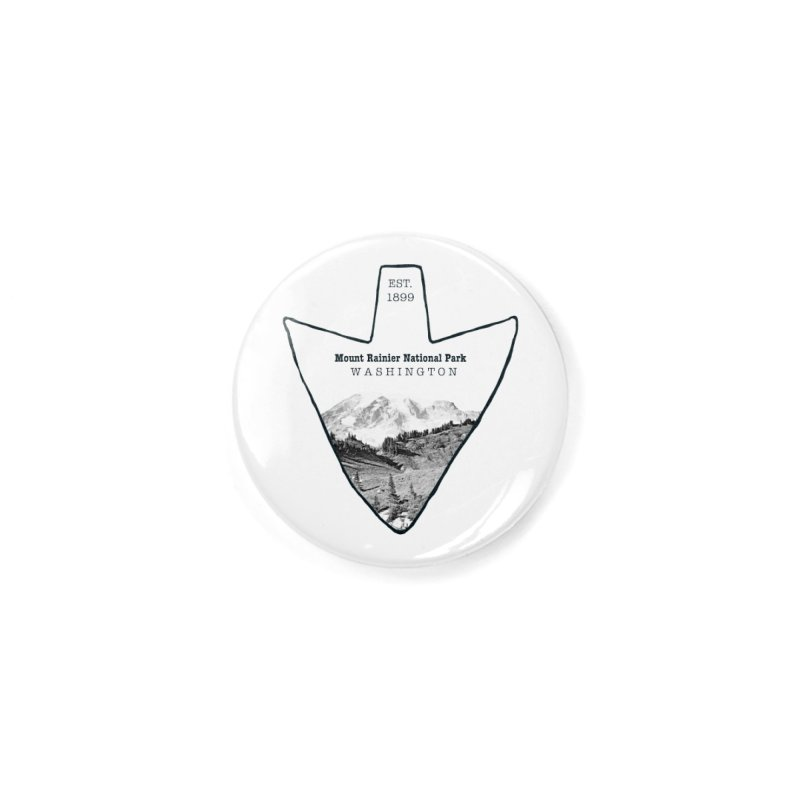 Mount Rainier National Park Arrowhead Accessories Button by Of The Wild by Kimberly J Tilley