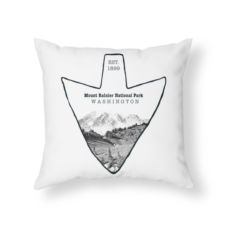 Mount Rainier National Park Arrowhead Home Throw Pillow by Of The Wild by Kimberly J Tilley