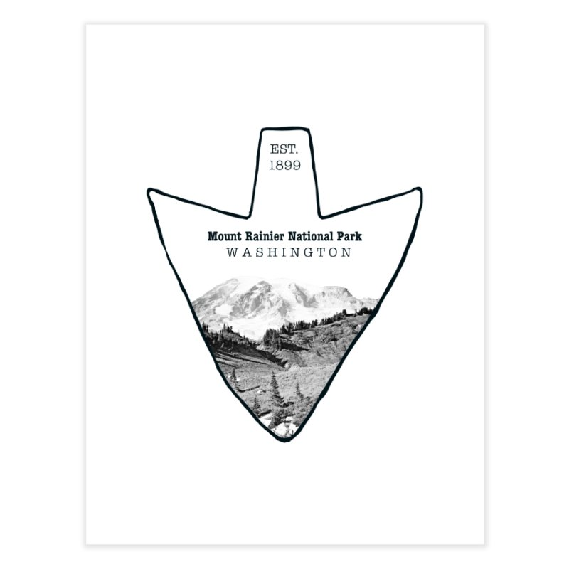Mount Rainier National Park Arrowhead Home Fine Art Print by Of The Wild by Kimberly J Tilley