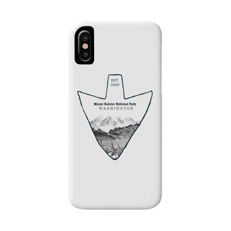 Mount Rainier National Park Arrowhead Accessories Phone Case by Of The Wild by Kimberly J Tilley