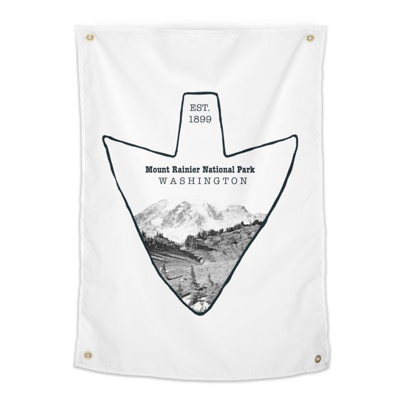 Mount Rainier National Park Arrowhead Home Tapestry by Of The Wild by Kimberly J Tilley