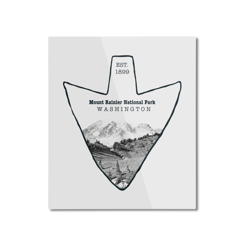 Mount Rainier National Park Arrowhead Home Mounted Aluminum Print by Of The Wild by Kimberly J Tilley