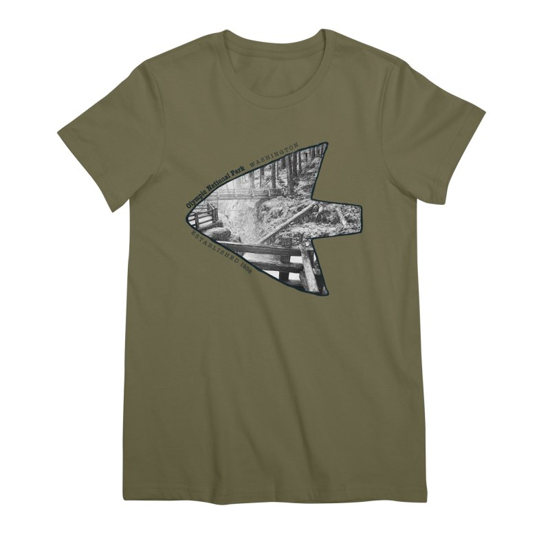 Olympic National Park Arrowhead Women's Premium T-Shirt by Of The Wild by Kimberly J Tilley
