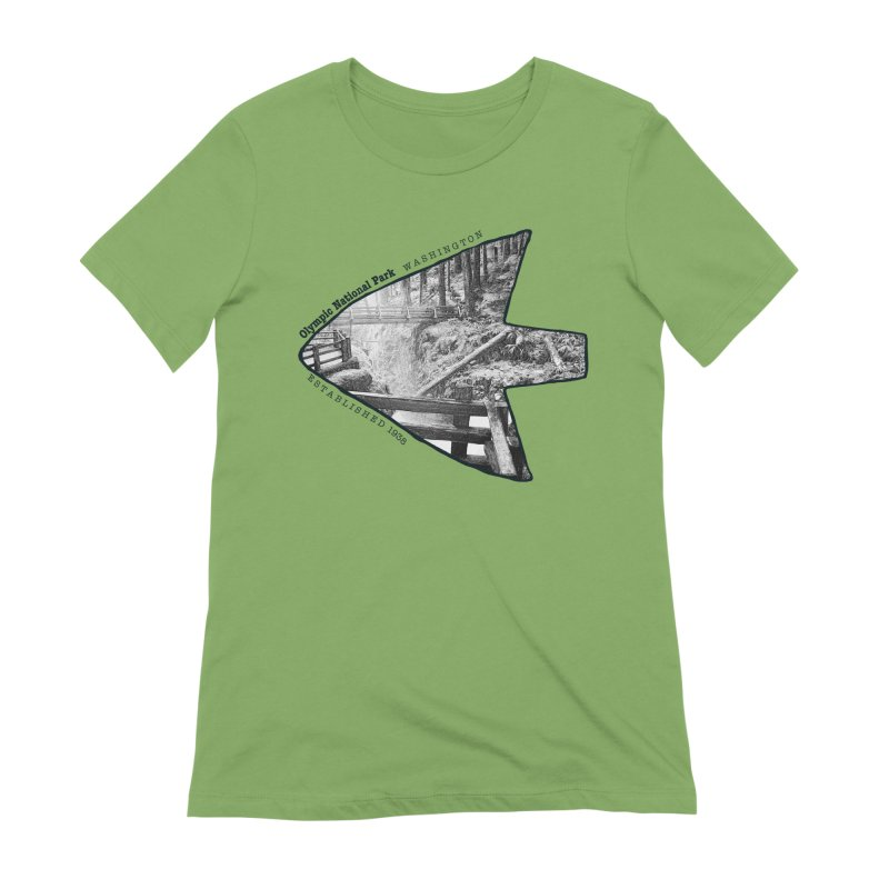 Olympic National Park Arrowhead Women's Extra Soft T-Shirt by Of The Wild by Kimberly J Tilley