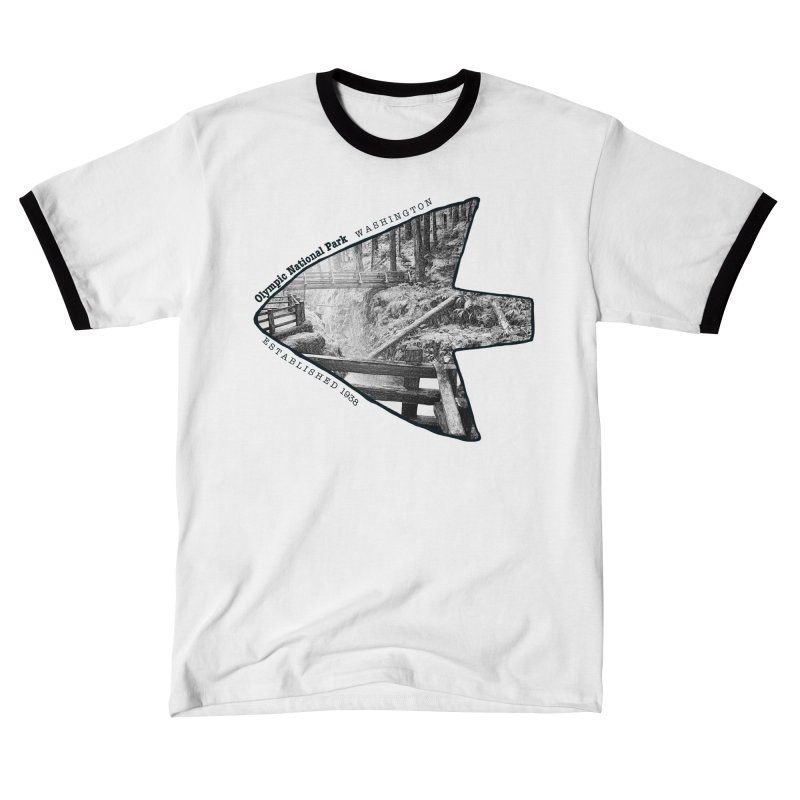 Olympic National Park Arrowhead Men's T-Shirt by Of The Wild by Kimberly J Tilley