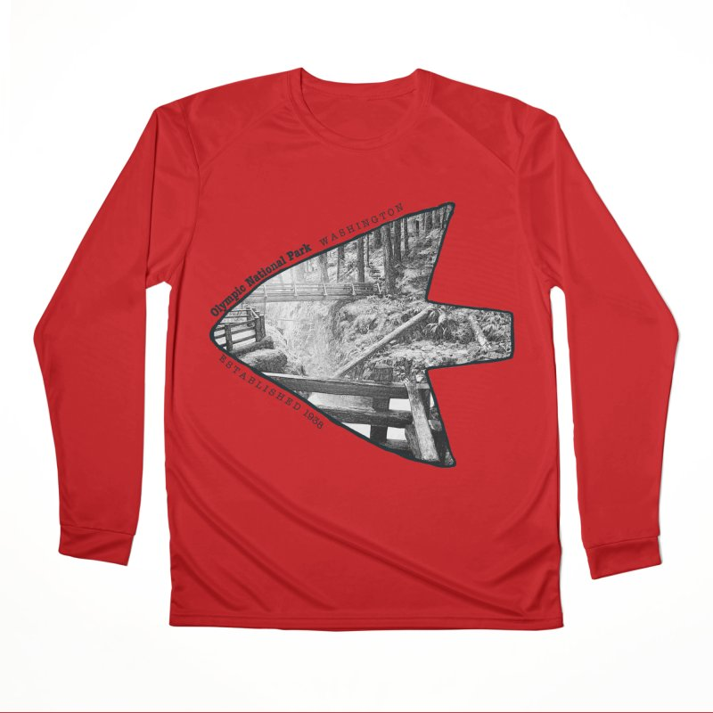 Olympic National Park Arrowhead Women's Performance Unisex Longsleeve T-Shirt by Of The Wild by Kimberly J Tilley