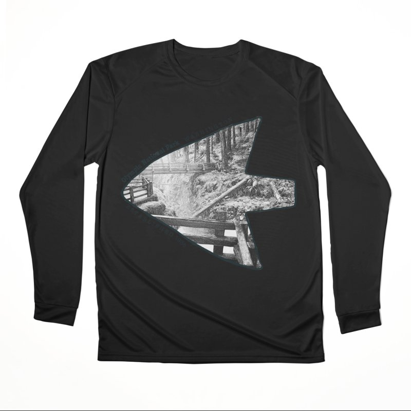 Olympic National Park Arrowhead Men's Performance Longsleeve T-Shirt by Of The Wild by Kimberly J Tilley