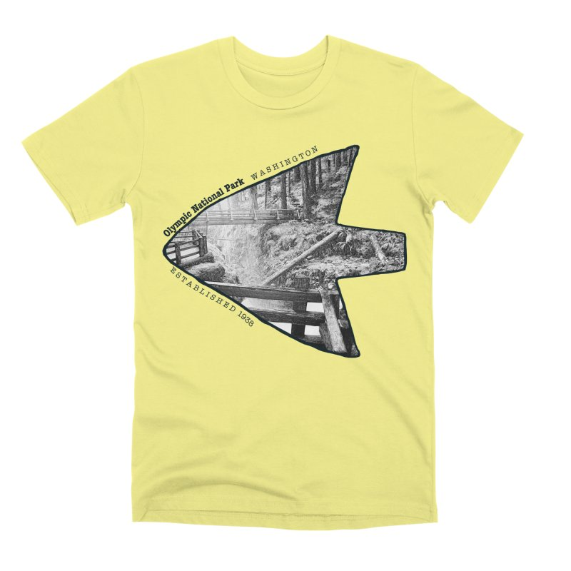 Olympic National Park Arrowhead Men's Premium T-Shirt by Of The Wild by Kimberly J Tilley