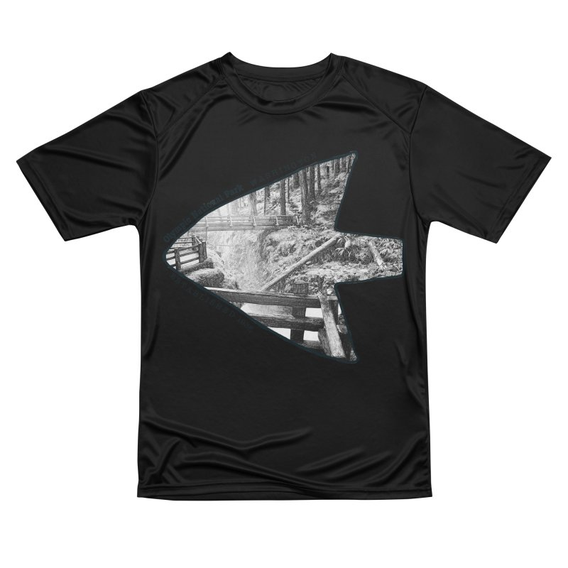 Olympic National Park Arrowhead Women's Performance Unisex T-Shirt by Of The Wild by Kimberly J Tilley