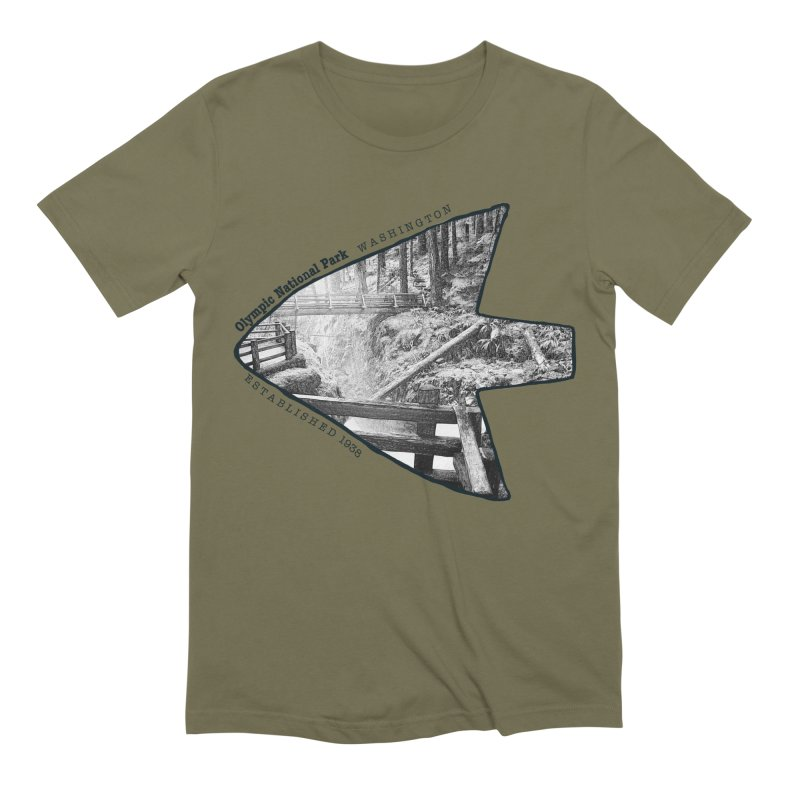 Olympic National Park Arrowhead Men's Extra Soft T-Shirt by Of The Wild by Kimberly J Tilley