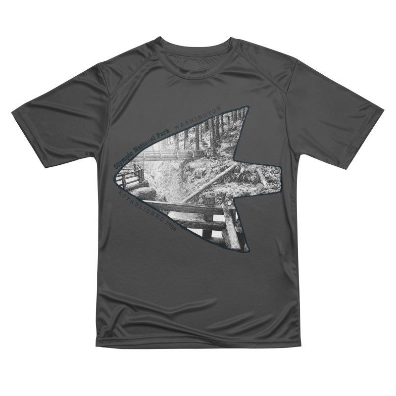 Olympic National Park Arrowhead Men's Performance T-Shirt by Of The Wild by Kimberly J Tilley