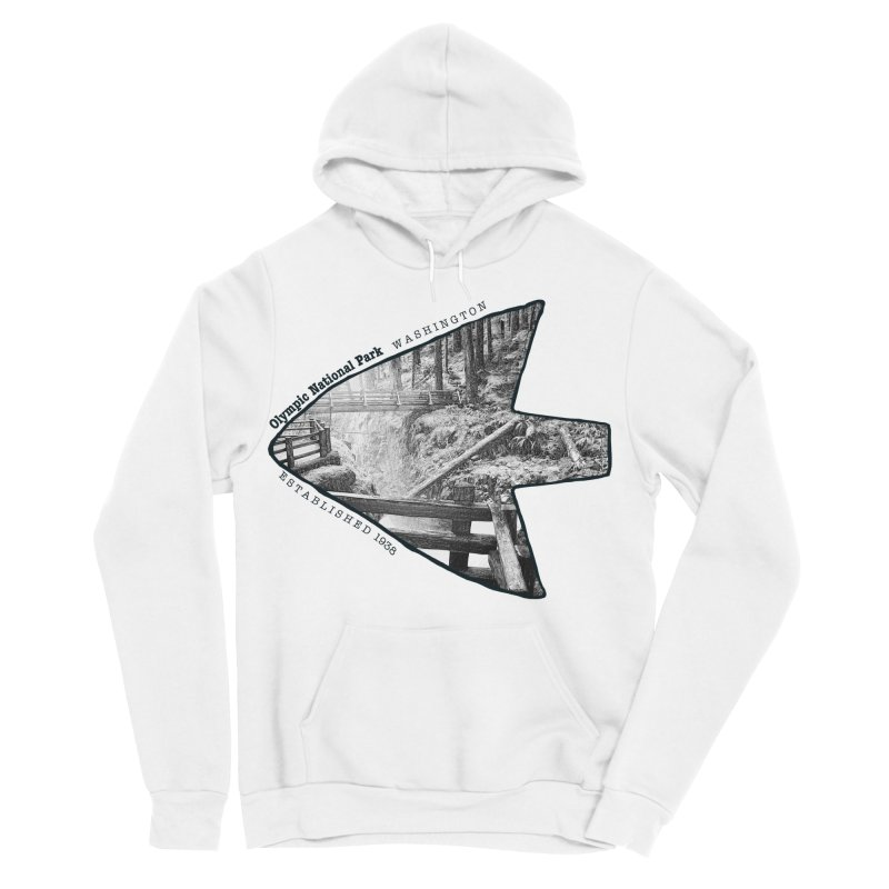 Olympic National Park Arrowhead Men's Sponge Fleece Pullover Hoody by Of The Wild by Kimberly J Tilley