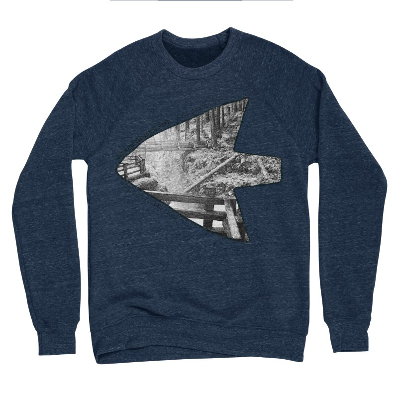 Olympic National Park Arrowhead Men's Sponge Fleece Sweatshirt by Of The Wild by Kimberly J Tilley