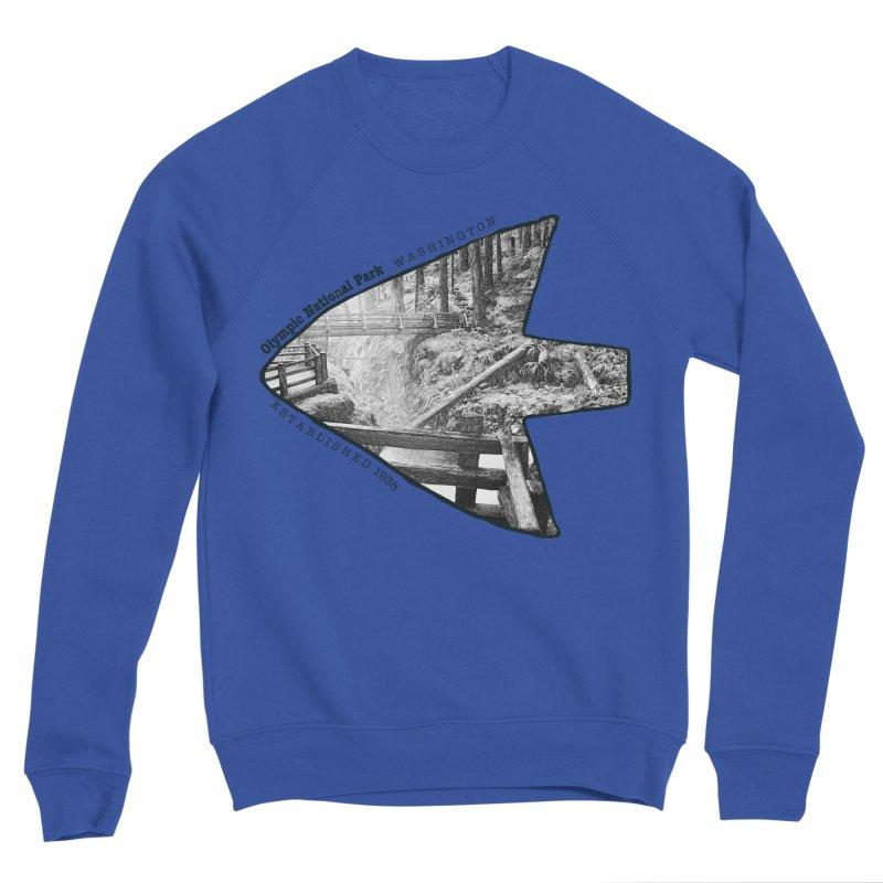 Olympic National Park Arrowhead Men's Sponge Fleece Sweatshirt by Of The Wild by Kimberly J Tilley