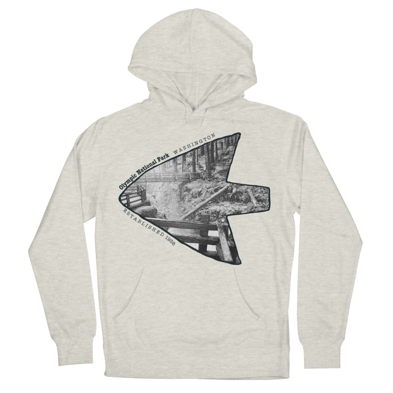 Olympic National Park Arrowhead Men's Pullover Hoody by Of The Wild by Kimberly J Tilley