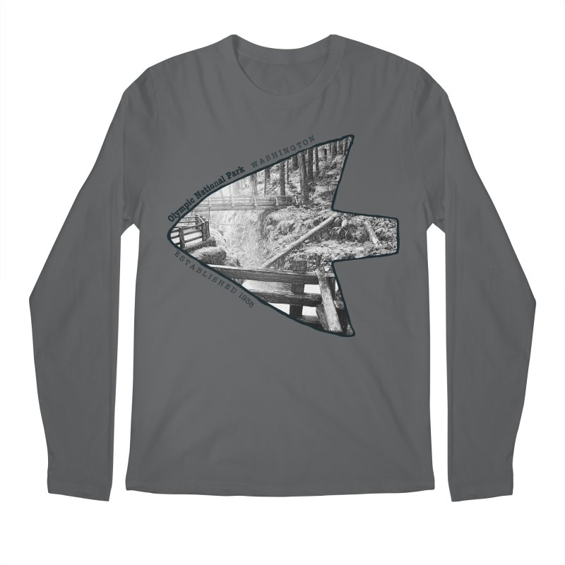 Olympic National Park Arrowhead Men's Longsleeve T-Shirt by Of The Wild by Kimberly J Tilley