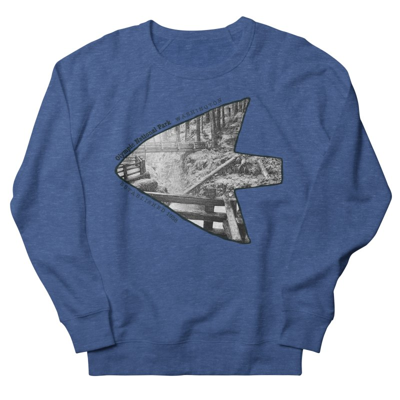 Olympic National Park Arrowhead Men's Sweatshirt by Of The Wild by Kimberly J Tilley