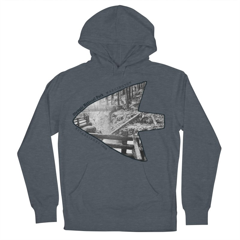 Olympic National Park Arrowhead Women's French Terry Pullover Hoody by Of The Wild by Kimberly J Tilley