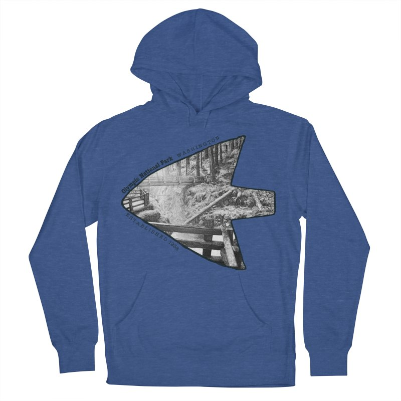 Olympic National Park Arrowhead Men's French Terry Pullover Hoody by Of The Wild by Kimberly J Tilley