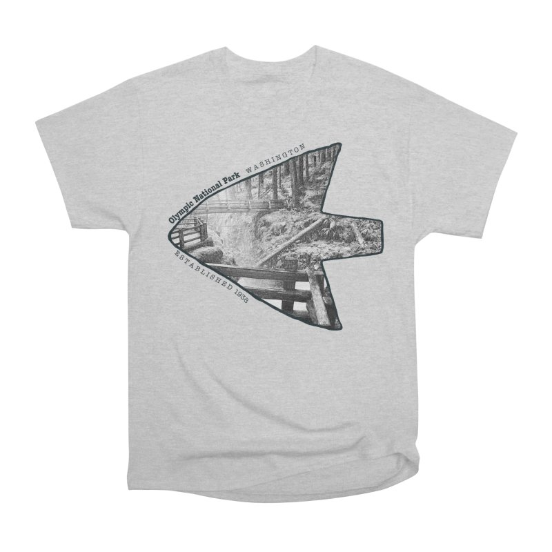 Olympic National Park Arrowhead Men's Heavyweight T-Shirt by Of The Wild by Kimberly J Tilley
