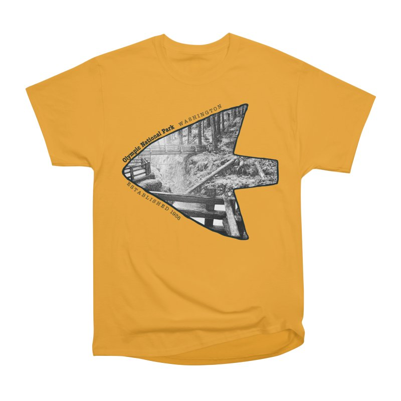Olympic National Park Arrowhead Women's Heavyweight Unisex T-Shirt by Of The Wild by Kimberly J Tilley