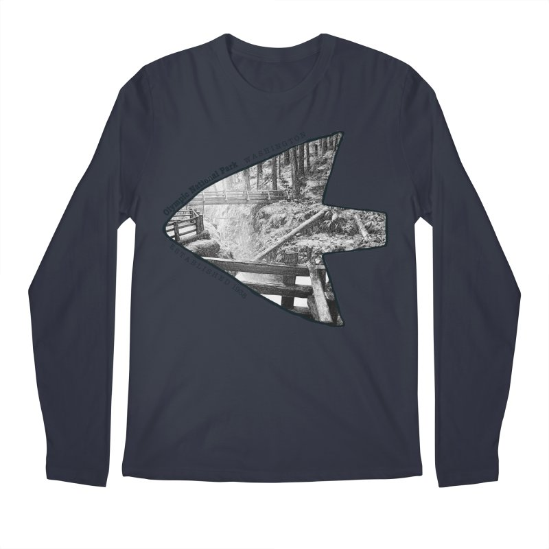 Olympic National Park Arrowhead Men's Regular Longsleeve T-Shirt by Of The Wild by Kimberly J Tilley