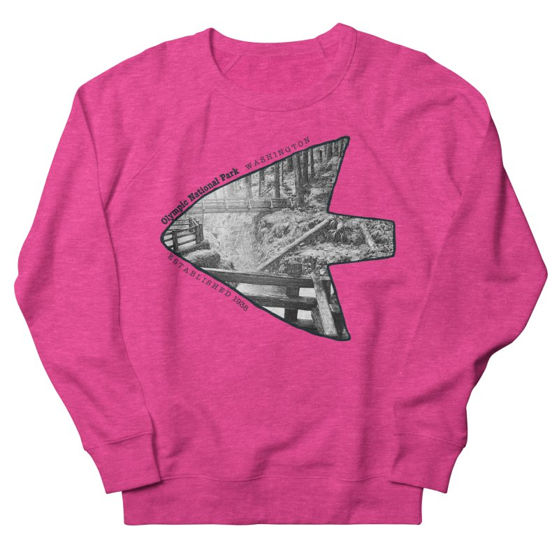 Olympic National Park Arrowhead Women's French Terry Sweatshirt by Of The Wild by Kimberly J Tilley