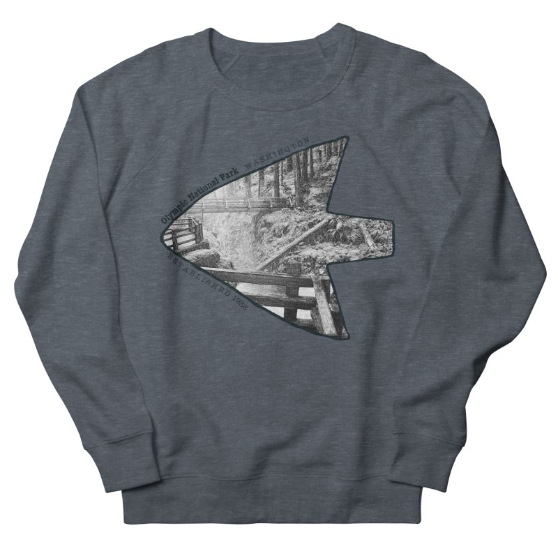 Olympic National Park Arrowhead Men's French Terry Sweatshirt by Of The Wild by Kimberly J Tilley
