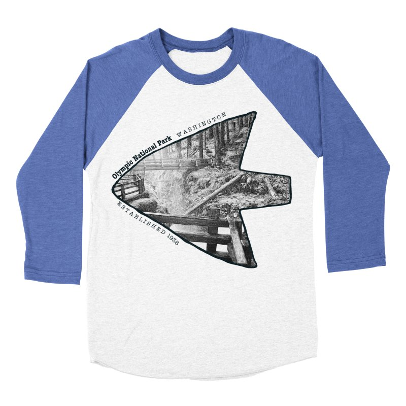 Olympic National Park Arrowhead Women's Baseball Triblend Longsleeve T-Shirt by Of The Wild by Kimberly J Tilley