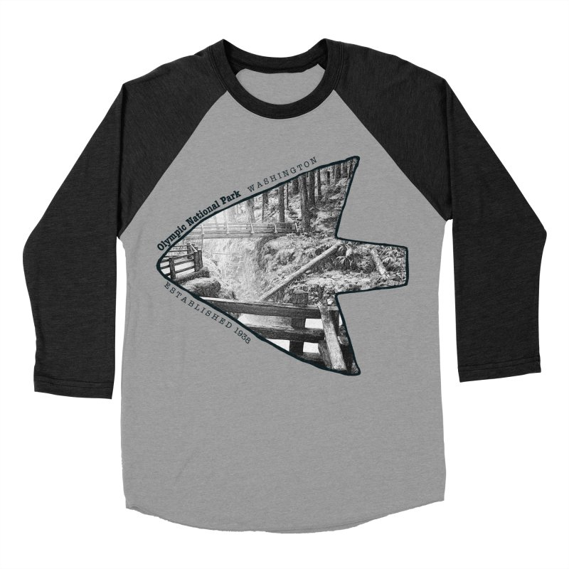 Olympic National Park Arrowhead Men's Baseball Triblend T-Shirt by Of The Wild by Kimberly J Tilley