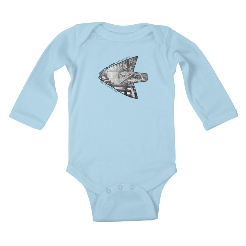 Olympic National Park Arrowhead Kids Baby Longsleeve Bodysuit by Of The Wild by Kimberly J Tilley