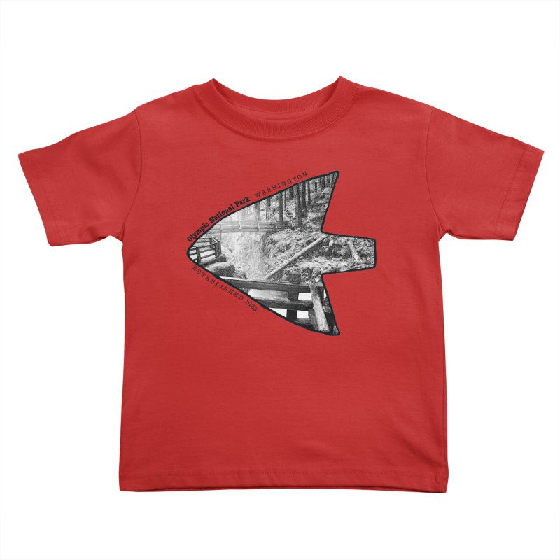 Olympic National Park Arrowhead Kids Toddler T-Shirt by Of The Wild by Kimberly J Tilley