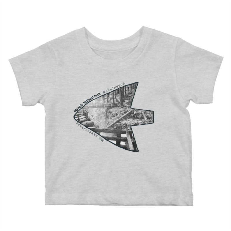Olympic National Park Arrowhead Kids Baby T-Shirt by Of The Wild by Kimberly J Tilley