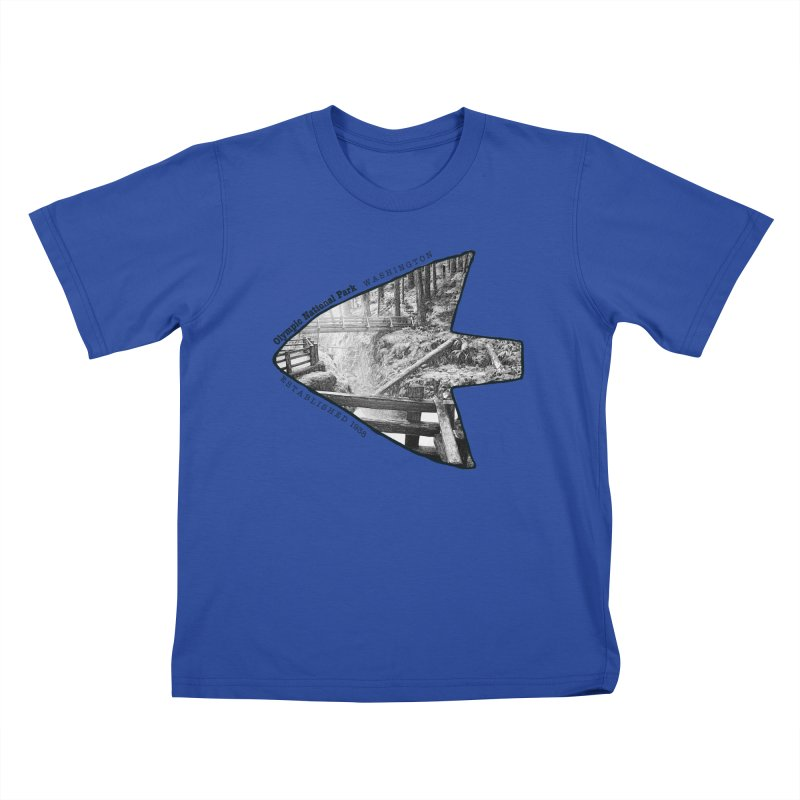 Olympic National Park Arrowhead Kids T-Shirt by Of The Wild by Kimberly J Tilley