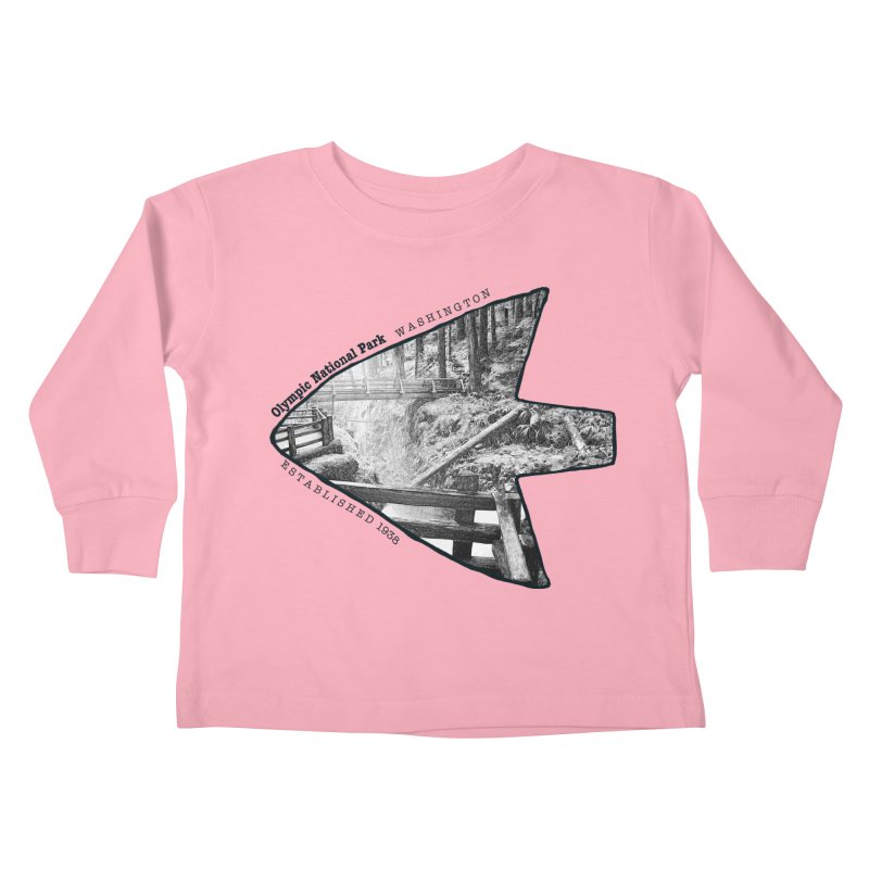 Olympic National Park Arrowhead Kids Toddler Longsleeve T-Shirt by Of The Wild by Kimberly J Tilley