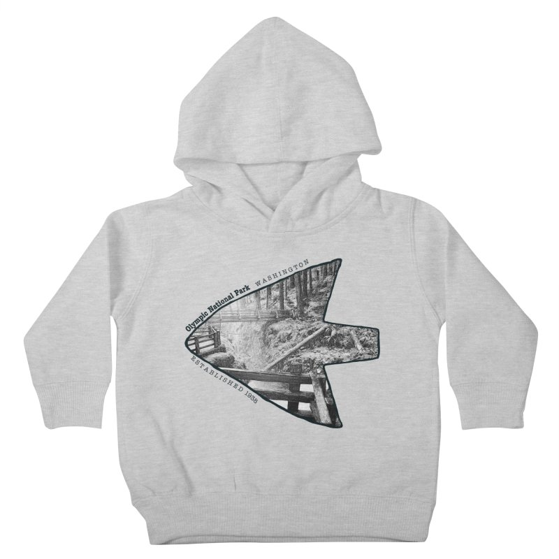 Olympic National Park Arrowhead Kids Toddler Pullover Hoody by Of The Wild by Kimberly J Tilley