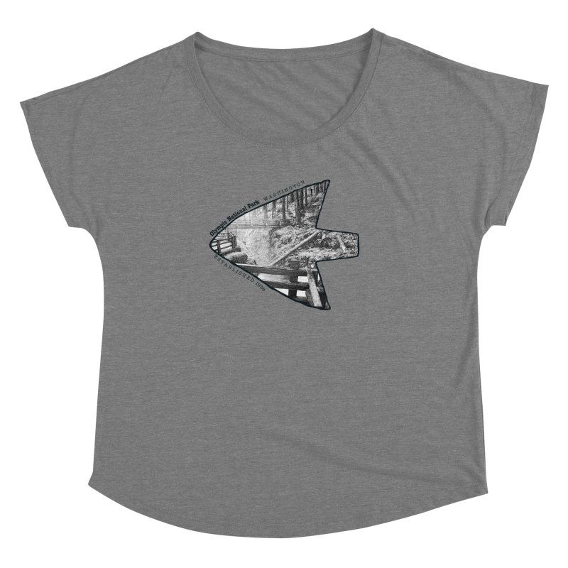 Olympic National Park Arrowhead Women's Scoop Neck by Of The Wild by Kimberly J Tilley