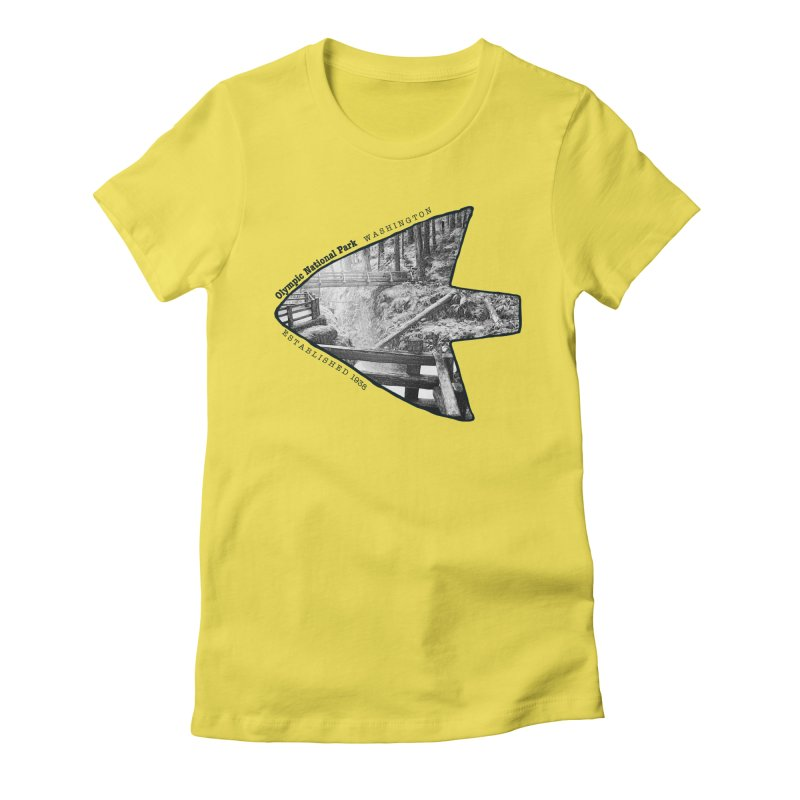 Olympic National Park Arrowhead Women's T-Shirt by Of The Wild by Kimberly J Tilley