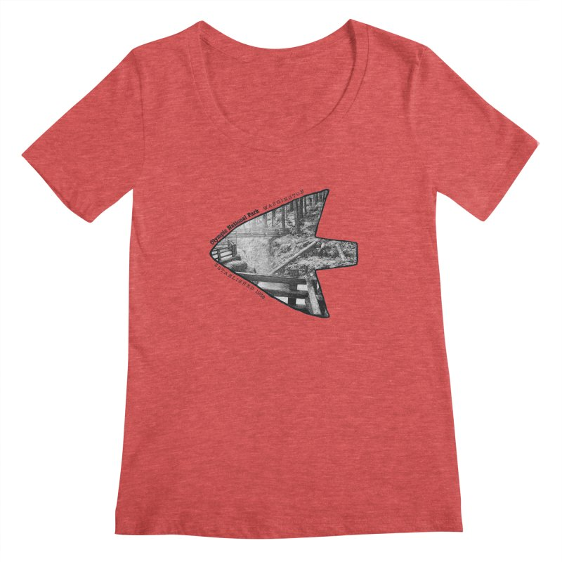 Olympic National Park Arrowhead Women's Regular Scoop Neck by Of The Wild by Kimberly J Tilley